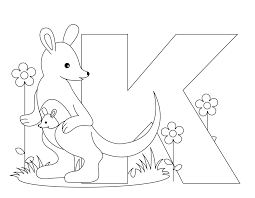 K Coloring Page Letter Pages For Preschoolers Kids Online