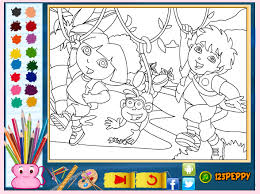 Dora The Explorer Coloring Book Games Online