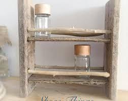 Driftwood Shelf Spice Rack Nautical Decor Gift For Men Beach Kitchen