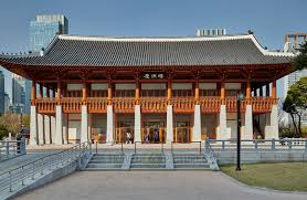 104 South Korean Architecture Travel4pictures Traditional Style Hanok Incheon City 04 2019 Traditional Style Hanok At Central Park In Songdo International Business District