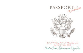 Passport Template Word