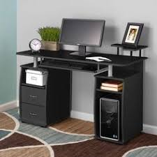 Techni Mobili Computer Desk With Side Cabinet by Techni Mobili Computer Desk With Side Cabinet In Chocolate