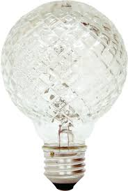 ge lighting 16774 40 watt halogen faceted g25 vanity light bulb 1