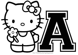 Hello Kitty Coloring Pages Letters