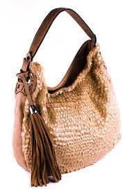 tassels and fur with clear hobo single handle bag agp handbags