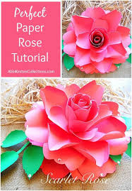 How To Make Paper Roses With Construction Step By Beautiful 259 Best Flower Tutorials