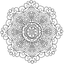 Instant PDF Download Coloring Page Hand Drawn Zentangle Inspired In Mandala Art Pages