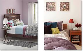 Mauve Lavender And Purple In A Contemporary Bedroom