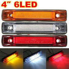 100 Truck Marker Lights 6 LED Clearance Side Light Indicator Lamp Strip