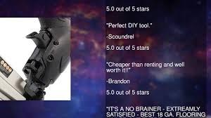 Flooring Nailer Vs Stapler by Freeman Pfbc940 4 In 1 18 Gauge Mini Flooring Nailer Stapler Youtube