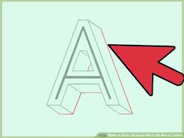 How to Draw Shadow Effect 3D Block Letters with Examples