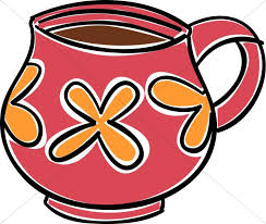 Coffee Cup Red And Orange Mug Clipart Hour