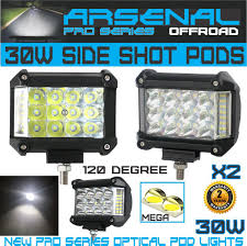 100 Work Lights For Trucks 2 X 30W Side Shot Pod MEGA LEDs Led Light Off Road Led Light