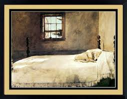 Amazoncom Master Bedroom By Andrew Wyeth Dog Sleeping 20x17 Inches