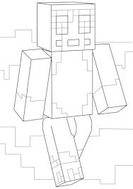 Minecraft Stampy Coloring Page Steve Diamond Armor Squid