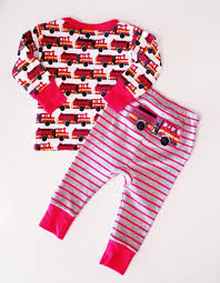 100 Fire Truck Pajamas S Long Sleeve Organic Cotton Baby Pajama THE ROYAL BEE