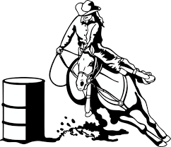 Barrel Racing Horse Coloring Pages 3