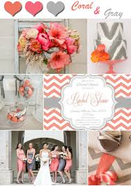2014 Unique Coral And Gray Wedding Color Ideas
