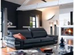 déco canapé noir photo deco salon avec canape cuir noir par deco