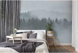 livingwalls fototapete designwalls forest blau braun grau grün taupe dd118604 3 50 m x 2 55 m