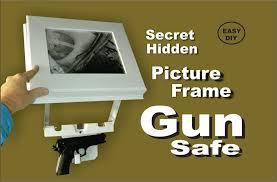 how to make a picture frame secret hidden gun safe easy diy youtube