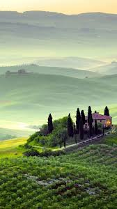 Fog Tuscany 4k HD Wallpaper Italy Hills Meadows House