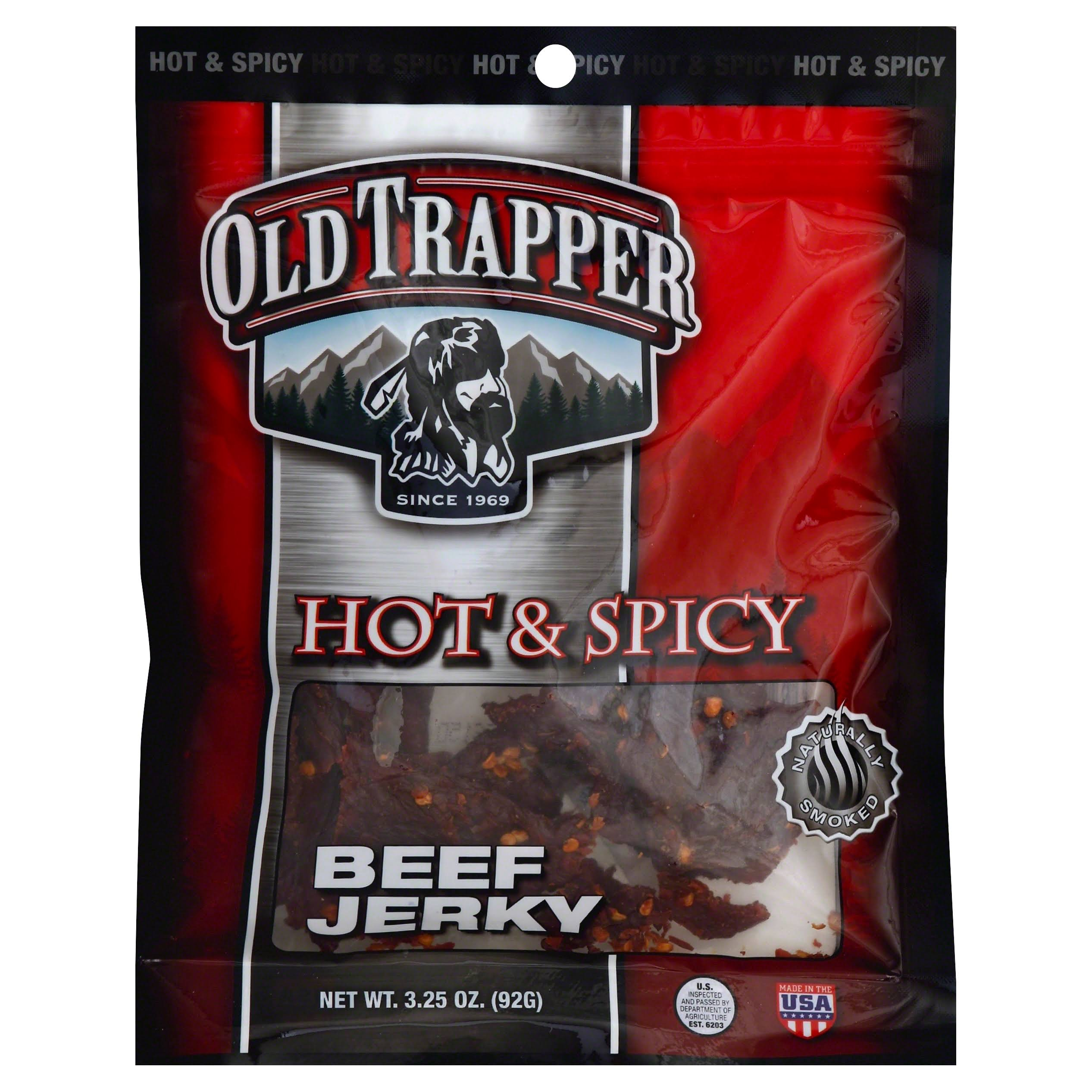 Old Trapper Beef Jerky, Hot & Spicy - 3.25 oz