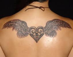 Nice Girl Tattoo Angels Wings Back Designs Ideas