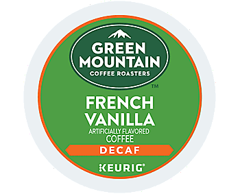 Green Mountain Coffee French Vanilla Decaf Keurig Single-Serve K-Cup Pods - Light Roast Coffee, 24pcs