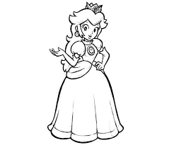 Easy Printable Princess Coloring Pages Peach Free On Art