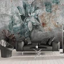 großhandel dropship individuelle 3d fototapete nordic vintage blumen schlafzimmer esszimmer küche kulisse wandhauptdekor tapeten für wohnzimmer
