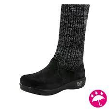 alegria juneau black silver boots free shipping
