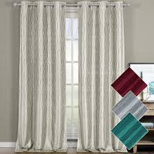 108 Inch Navy Blackout Curtains by Willow Geometric Thermal Blackout Grommet Top Curtain Panels Pair