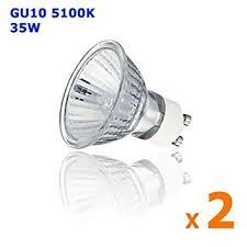 2 pcs 12v 35w gu10 halogenlight bulb low voltage 12 volt 35 watt