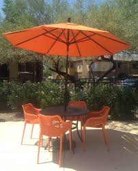 Large Fim Cantilever Patio Umbrella by Exterior Exciting Patio Design With Dark Wood Flooring And Wood