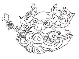 Angry Birds Space Coloring Pages Blackbird Epic Page Wizard Pig Star Wars Pdf Christmas