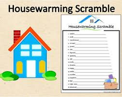 Instant Download Housewarming Word Scramble GamePrintable Party GameHousewarming Shower Activity