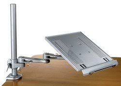 Desk Mount Monitor Arm With Keyboard Tray by Amazon Com Articulating Laptop And Keyboard Arm Tray Clamp And