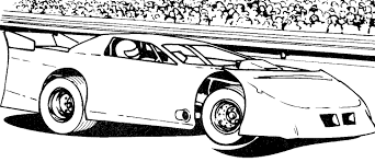Racecar Coloring Page Drag Car Pages Race Tryonshorts Picture