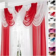 Ebay Curtains With Pelmets Ready Made by Gemma Beaded Fringe Round Voile Swag Swags X1 Drape Pelmet Curtain