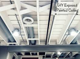 Best Airless Paint Sprayer For Ceilings by Diy Painted Basement Ceiling Project U2014 First Thyme Mom