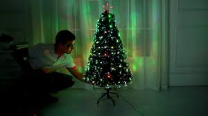 4ft Christmas Tree With Lights by Fibre Optic Led Christmas Tree By Hisp Uk Youtube