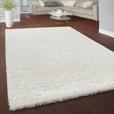 hochflor teppich kuschelig uni farben weiß
