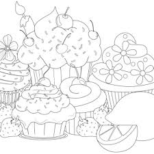 Free Coloring Pages Cupcakes Page Cupcake To Print