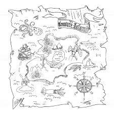 Coloriages Coloriage Dune Carte Au Trésor Frhellokids Pertaining