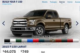 Ford Launches 2015 F-150 Build And Price Photo & Image Gallery Automotive Fu7ishes Color Manual Pdf Ford 2018 Trucks Bus F 150 For Sale What Are The 2019 Ranger Exterior Options Marshal Mize Paint Chips 1969 Truck Bronco Pinterest Are Colors Offered On 2017 Super Duty 1953 Lincoln Mercury 1955 F100 Unique Ford Models Ford American Chassis Cab Photos Videos Colors Dodge New Make Model F150 Year 1999 Body Style 350 Raptor Colors Youtube 2015 Shows Its Styling Potential With Appearance