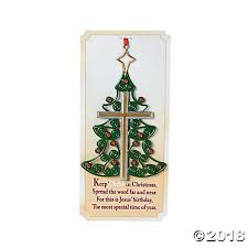 Christmas Tree Cross Ornaments With Card
