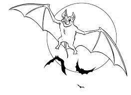 Downloads Online Coloring Page Bat 69 For Print With