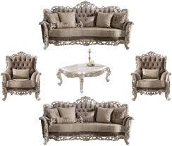 casa padrino luxus barock wohnzimmer set braun beige weiß gold 2 sofas 2 sessel 1 couchtisch edle barock wohnzimmer möbel