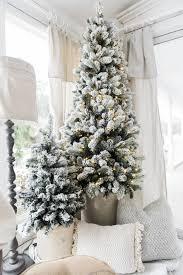 Flocked Slim Christmas Tree